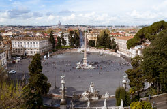 Piazza del Popolo (People's square) Rome Stock Photography