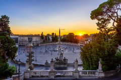 Piazza del Popolo (People's Square) in Rome, Italy Royalty Free Stock Photography