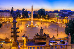 Piazza del Popolo People`s Square in Rome, Italy Royalty Free Stock Images