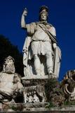 Piazza del Popolo People以Sa教会命名的` s正方形  库存照片