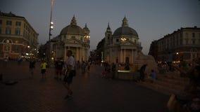 Piazza Del Popolo przy nocą zdjęcie wideo