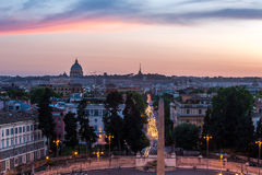 Piazza Del Popolo Rom stockfotografie
