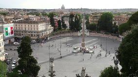 Piazza del popolo Roma video d archivio