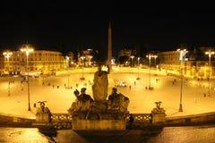Piazza del Popolo a Roma, Italia Fotografie Stock Libere da Diritti