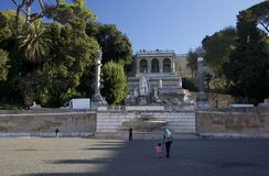 Piazza del popolo, Roma, Italia fotografia stock