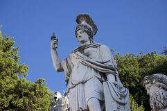 Piazza del popolo, Roma, Italia Immagine Stock Libera da Diritti