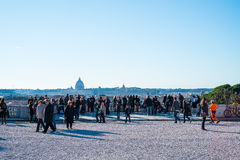 Piazza del Popolo a Roma, Italia Immagine Stock Libera da Diritti
