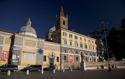 Piazza del popolo, Roma, Italy. Photos travel, attractions, interesting artifacts, beautiful people Stock Photography