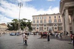 Piazza del Popolo, Rome Royalty-vrije Stock Foto