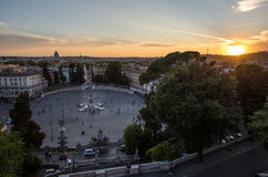 Piazza del Popolo Rome Royalty-vrije Stock Afbeelding