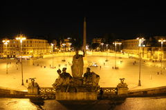 Piazza del Popolo in Rome, Italië Royalty-vrije Stock Foto's