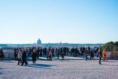 Piazza del Popolo in Rome, Italië Royalty-vrije Stock Afbeelding