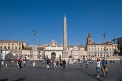 Piazza del Popolo, Rome, Italië royalty-vrije stock foto's