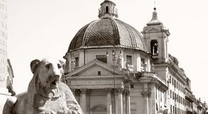 Piazza del Popolo in Rome Italy Stock Images