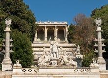 Piazza del Popolo, Rome, Italy. Famous fontain in Piazza del Popolo, Rome, Italy stock photo
