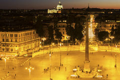 Piazza del Popolo in Rome Royalty Free Stock Images