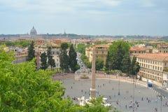 Piazza Del Popolo Stock Photos