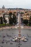 Piazza del Popolo, Rome. Italy Aerial view Stock Image