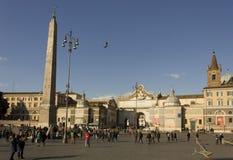 Piazza del Popolo in Rome Stock Images