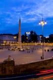 Piazza del Popolo in Rome Italy Stock Photography