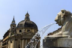 Piazza del Popolo in Rome, Italy Royalty Free Stock Photos