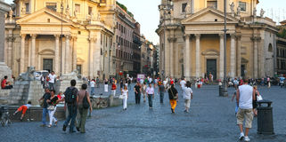 Piazza del Popolo in Rome Italy Stock Photography