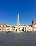 Piazza del Popolo, Rome, Italy, looking west from the Pincio. Stock Image