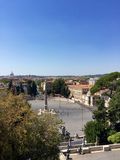 Piazza del Popolo, Rome, Italy, looking west from the Pincio. Royalty Free Stock Photos