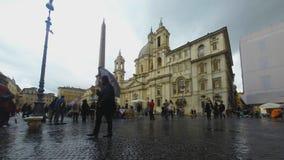Piazza del Popolo stock video