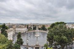 Piazza del Popolo in Rome, Italy stock photo