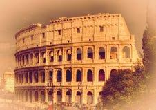 The Rome Colosseum. Italy. Retro toned Royalty Free Stock Photos