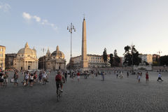 Piazza del Popolo, Rome Royalty Free Stock Photos