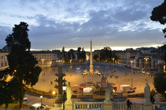 Piazza del Popolo- Rome Royalty Free Stock Photo