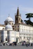 Piazza del Popolo in Rome Royalty Free Stock Photos
