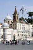 Piazza del Popolo in Rome Royalty Free Stock Photo