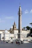 Piazza del Popolo in Rome Stock Photography