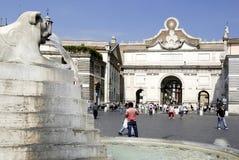 Piazza del Popolo in Rome Royalty Free Stock Image