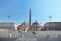 Piazza del Popolo, Santa Maria Royalty Free Stock Photos