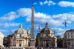Piazza del Popolo, Santa Maria in Rome Stock Photo