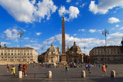 Piazza del Popolo, Santa Maria in Rome Royalty Free Stock Images