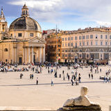 Piazza del Popolo and St. Peter's Basilica Royalty Free Stock Photos