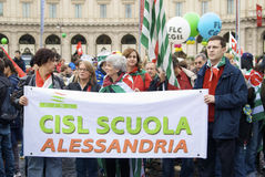 Piazza del Popolo during the strike Stock Photo