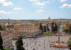 Piazza del Popolo Royalty Free Stock Image