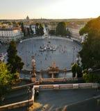 Piazza Del Popolo von Borghese Ville in Rom lizenzfreies stockfoto