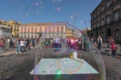 Piazza Del Popolo w Naples Zdjęcie Stock