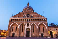 Piazza del Santo και βασιλική του ST Anthony στην Πάδοβα Στοκ Εικόνες