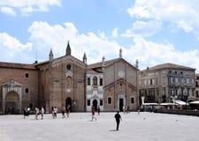 Piazza del Santo, Padoue Images libres de droits