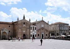 Piazza del Santo, Padua Royalty Free Stock Images