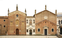 Piazza del Santo in Padua. Italy Royalty Free Stock Images