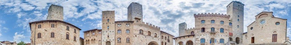 Piazza Del w San Duomo Gimignano, Włochy obrazy royalty free